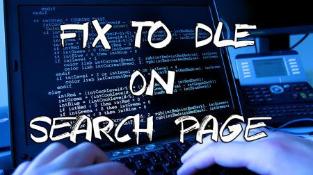 Fix to DLE on Search Page